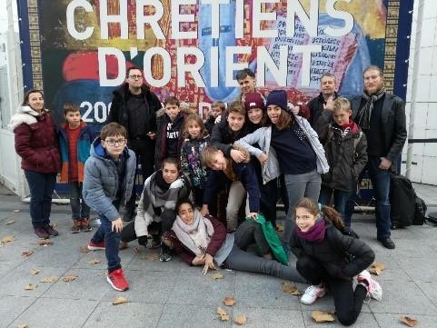 Les jeunes du caté à Paris