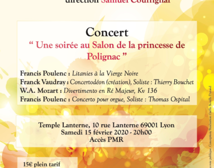 """Concert """"Une soirée au Salon de la Princesse de Polignac"""""""