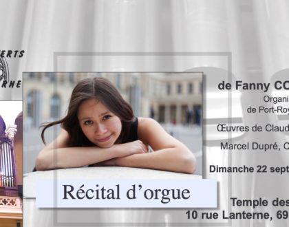 Récital d'orgue de Fanny Cousseau